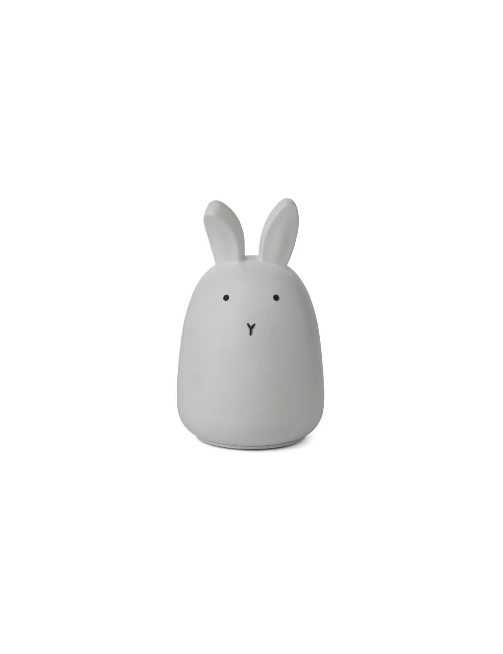Nachtlampje Winston (oplaadbaar USB)   konijn grijs