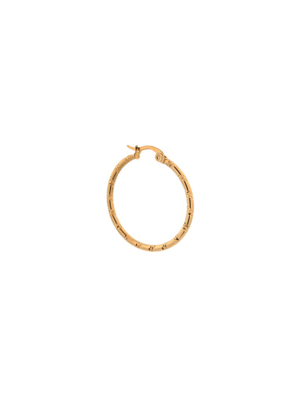 Oorbel Single Tire Hoop | goud
