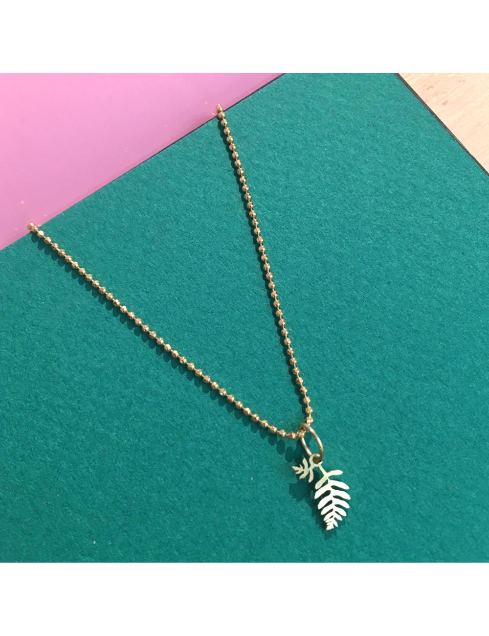 Leaf Halsketting | goud