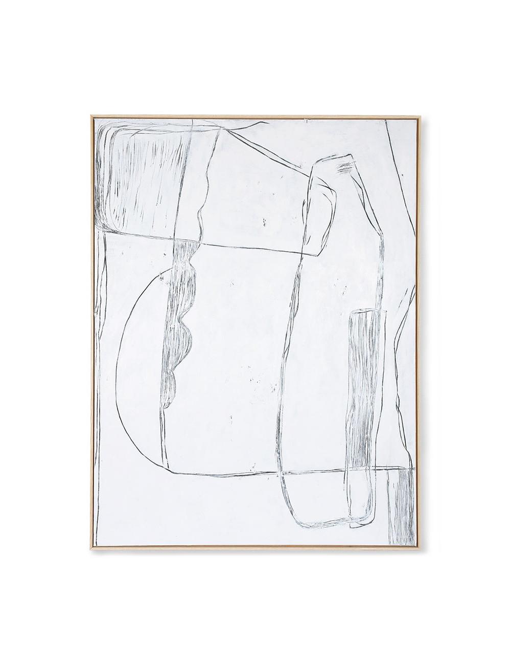 Ingekaderd Schilderij Brutalism | 120x160cm