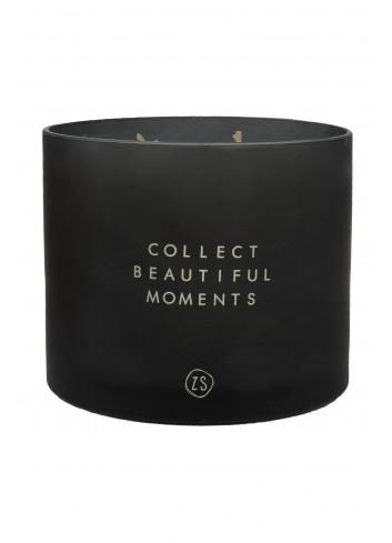 Grote Geurkaars Ø12cm | collect moments zwart