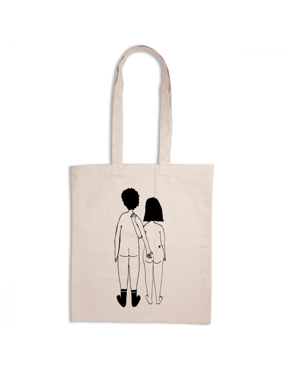 Tote Bag | naked couple back