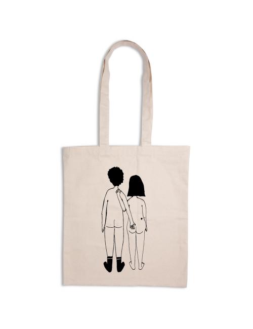 Tote Bag | naked couple back