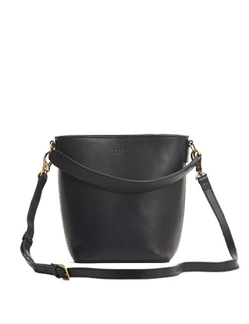 Handtas Bobbi Bucket Bag Black Classic Leather