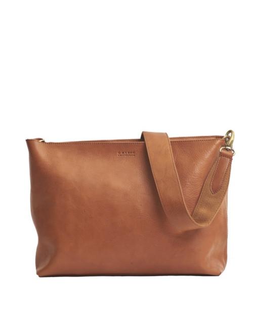 Handtas Olivia Cognac Stromboli Leather