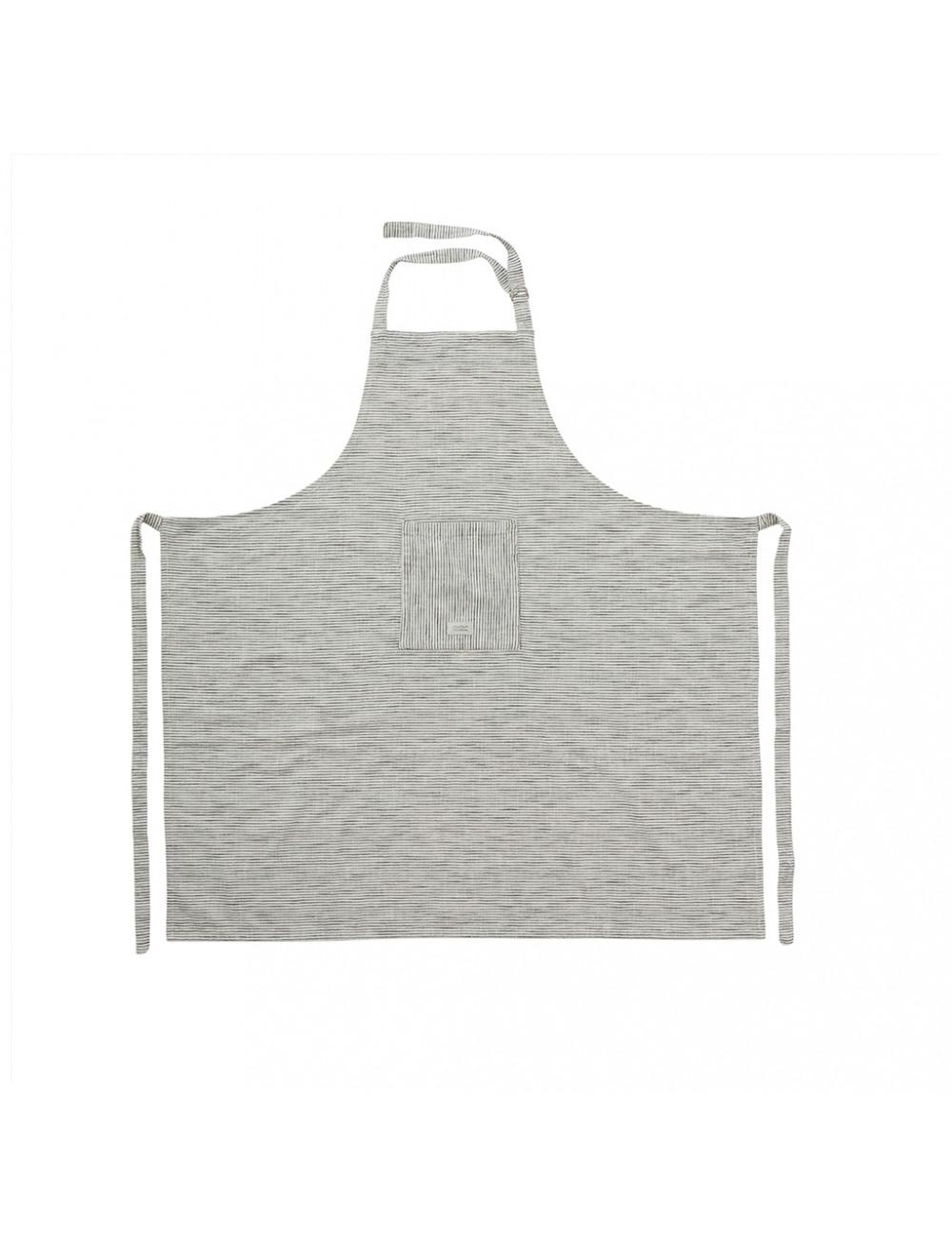 Keukenschort | zwart/wit gestreept