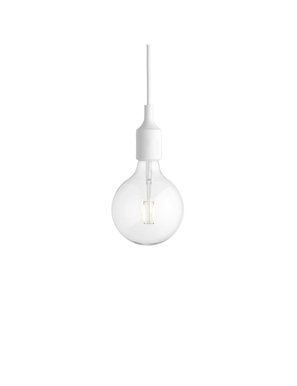E27 LED Hanglamp met plafondkap | wit
