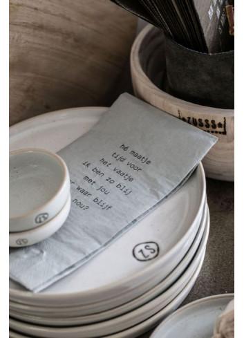 Ontbijtbord | aardewerk wit