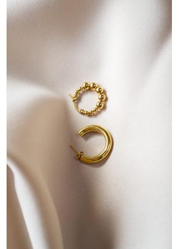 Oorbel Single Iris Hoop   gold