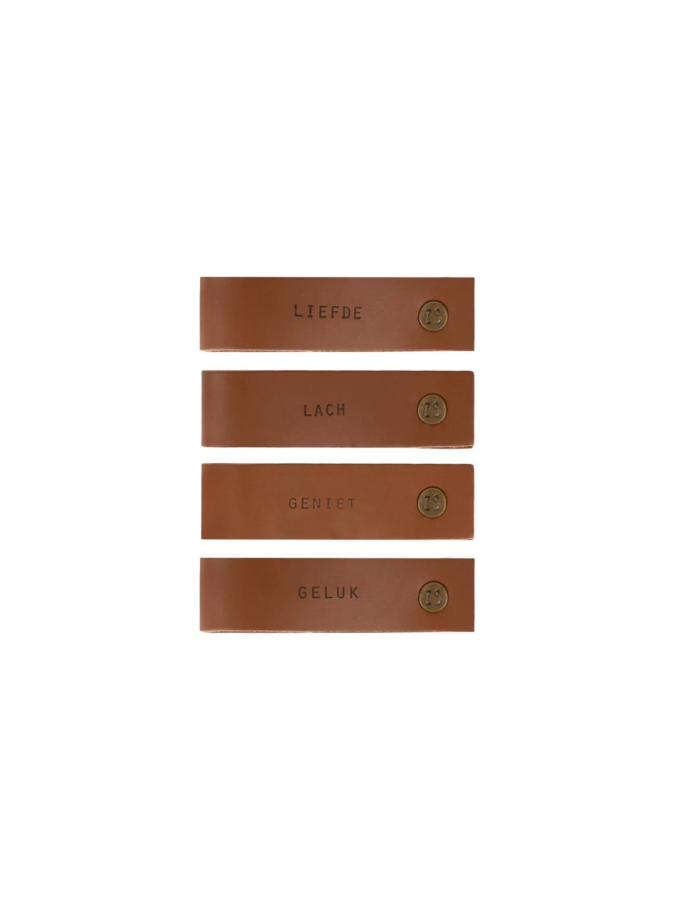 Servettenringen (set van 4) | bruin