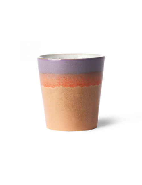 Ceramic 70's Koffiebeker | sunset