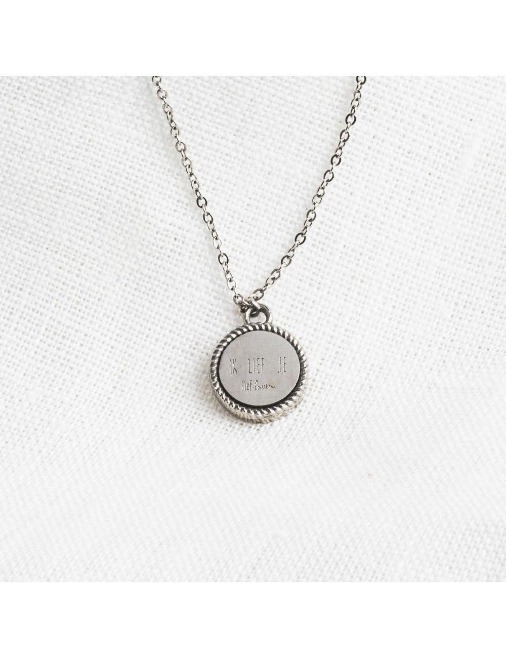 Halsketting 'Klein geluk' | zilver