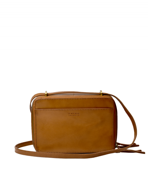 Handtas Bee's Box Bag | cognac classic leather