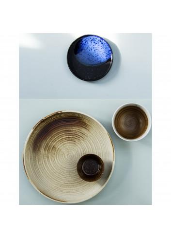 Keramieken Dessert Bordje | cobalt/blauw
