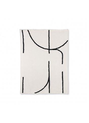 Plaid 130x170 | zwarte lijnen