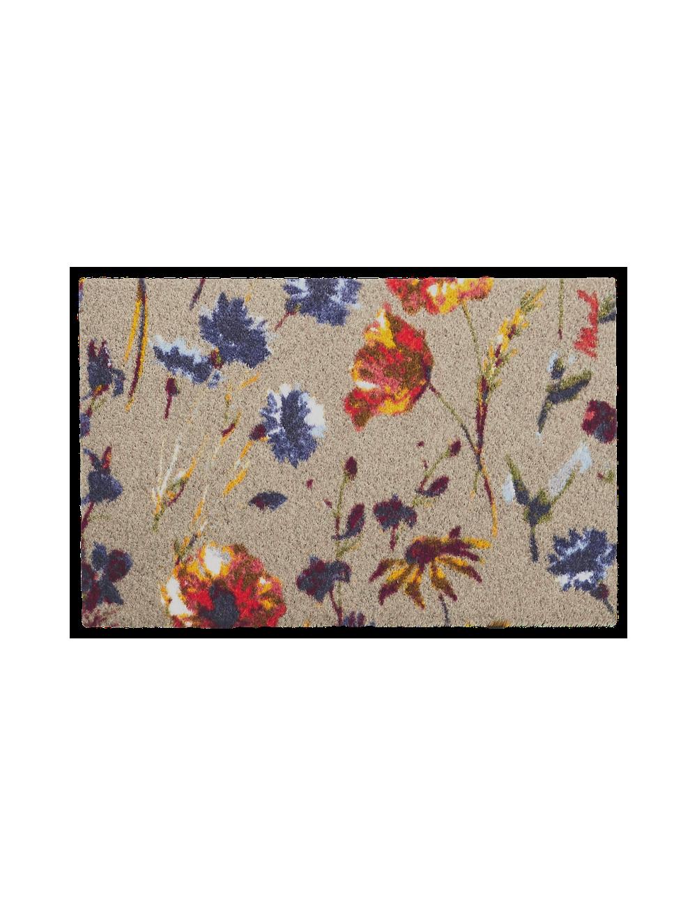 Deurmat Margo Scraper | bloemen