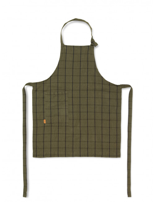 Keukenschort Hale | groen/zwart