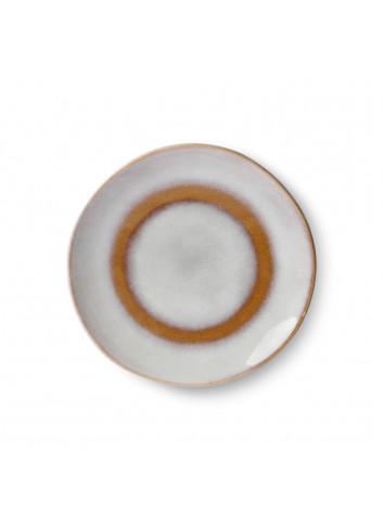 70's Ceramics Dessertbord 17,5cm | snow