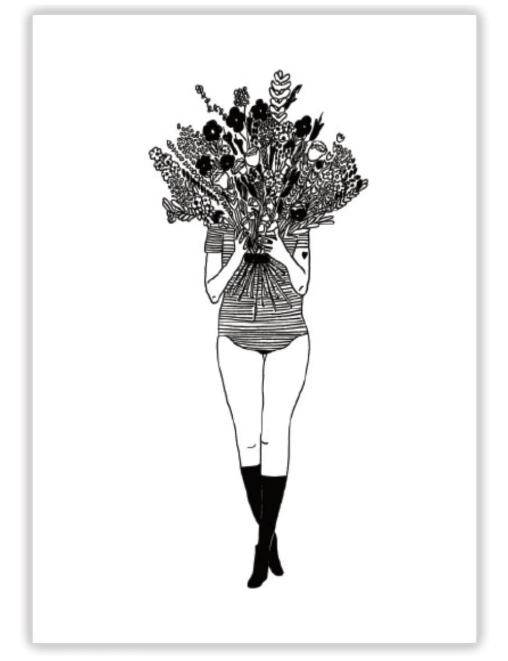 Poster A4 | flower girl