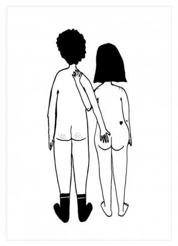 Poster A4 | naked couple back