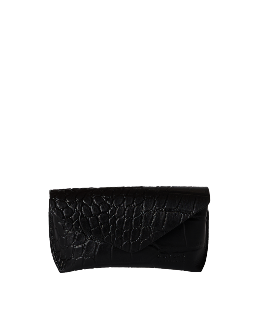 Brillendoosje | zwart croco classic leather