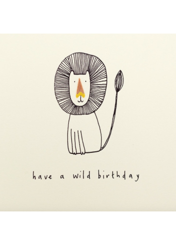 Wenskaart | have a wild birthday/leeuw