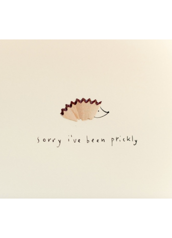Wenskaart | sorry i've been prickly/egel