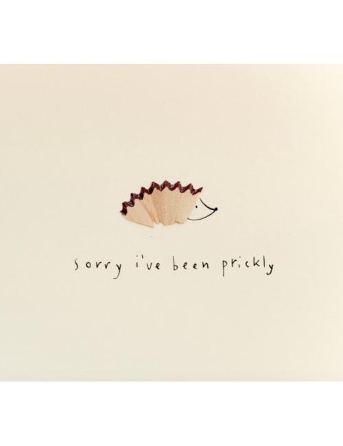 Wenskaart | sorry i've been prickly/egel