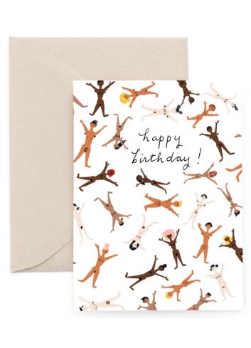 Wenskaart | birthday/au natural