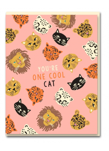 Wenskaart | you're one cool cat/wildcats