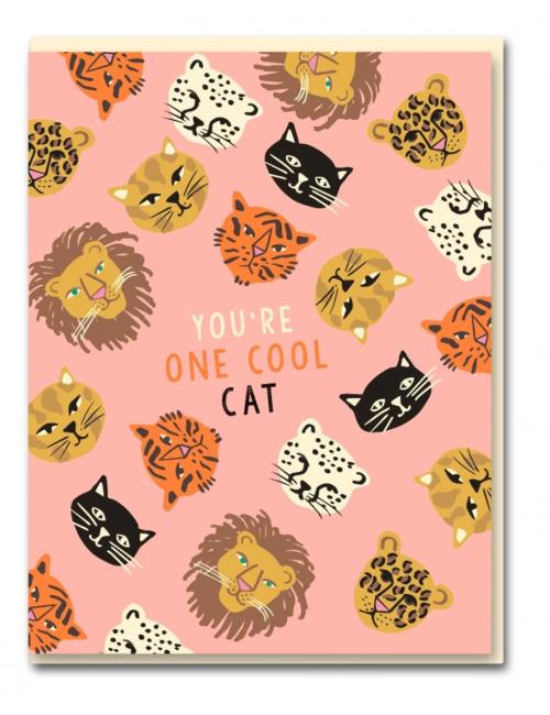 Wenskaart | you're one cool cat/wildcats