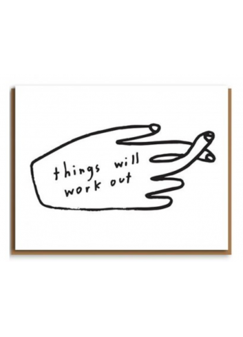 Wenskaart | things will work out