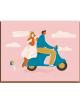 Wenskaart | wedding day/scooter