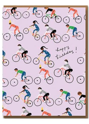 Wenskaart | birthday/cycle gang