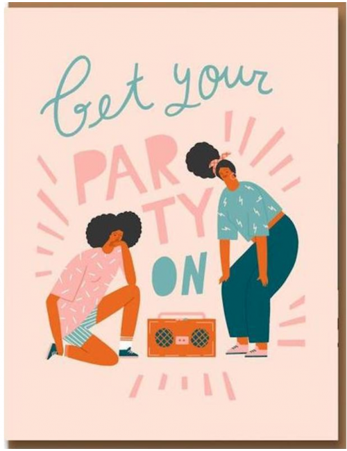 Wenskaart | get your party on