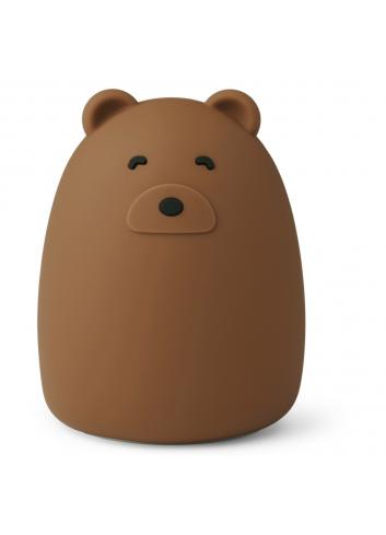 Nachtlampje Winston (oplaadbaar USB)   bear/golden caramel