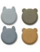Iggy Siliconen Kommetjes (4-pack) |  golden caramel/blue multi mix