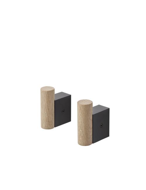 Kapstokhaken Attach (set v 2) | zwart
