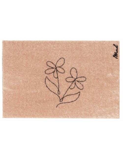 Mat Aimee Touch (indoor) | lijntekening bloemen