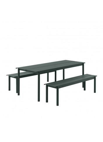 Linear Steel Tuintafel | 200cm donkergroen