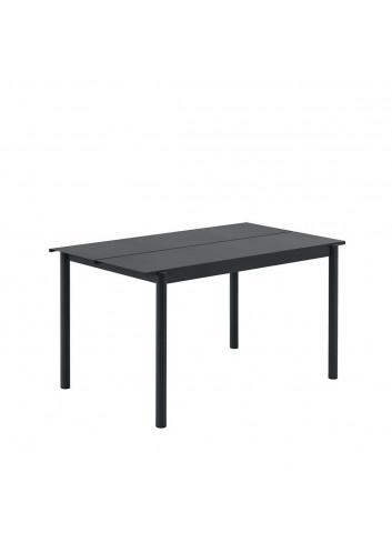 Linear Steel Tuintafel   140cm zwart