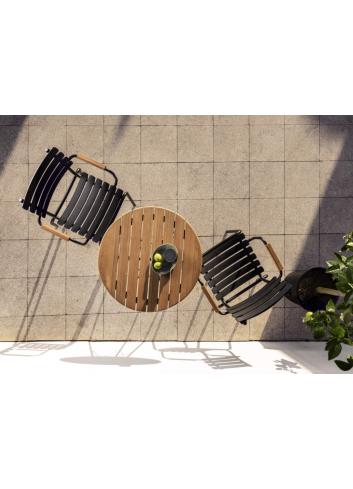 Reclips Tuinstoel | zwart/bamboe