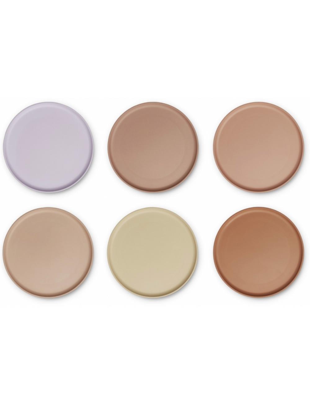 Logan Bord (set van 6) | light lavender multi mix