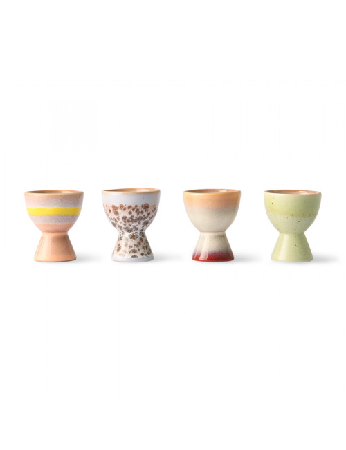 70's Ceramics Eierdopjes (set van 4)