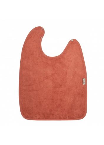 Slab met drukknoop XL | apricot blush