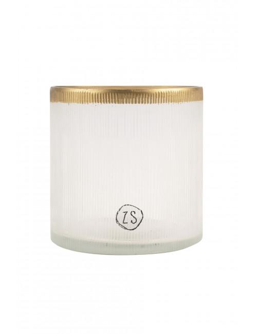 Waxinelichthouder Glas | goud