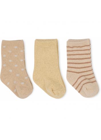 Sokjes (set van 3) | macaroon/golden haze/dot