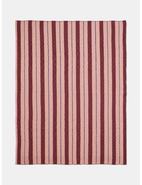 Deken Pinstripe | roze