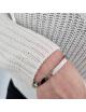 Vaste armband 'Maatje voor het leven' | zilver