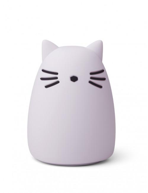 Nachtlampje Winston (oplaadbaar USB) | kat licht lavendel